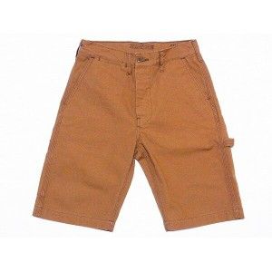 SUGAR CANE[シュガーケーン] ショートパンツ ブラウンダック ワークショーツ SC51362 Made in USA COTTON DUCK WORK SHORTS (BROWN)...