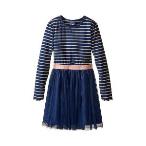 Toobydoo Gold Twinkle Party Dress (Toddler/Little Kids/Big Kids)