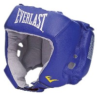 Everlast Amateur Competition オープン フェイス Headgear (Blue, Small) (海外取寄せ品)