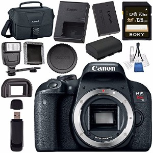 Canon EOS Rebel T7i DSLR Camera (Body Only) 1894C001 + ソニー 128GB SDXC Card + LPE-17 Lithium イオン...