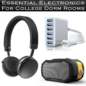 Essential エレクトロニック College Dorm Room Accessories インクルーズ Photive Lightweight ブルートゥース Headphones +...
