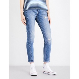 リーバイス levi's レディース ボトムス ジーンズ【501 distressed skinny high-rise jeans】Moody blues