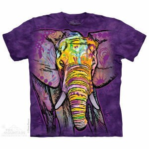The Mountain Tシャツ Dean Russo Russo Elephant (Dean Russo ゾウ メンズ 男性用 男女兼用) S-L【輸入品】半袖