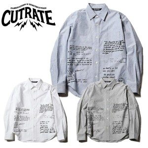 CUT RATE カットレイト L/S OXFORD SHIRT 長袖シャツ