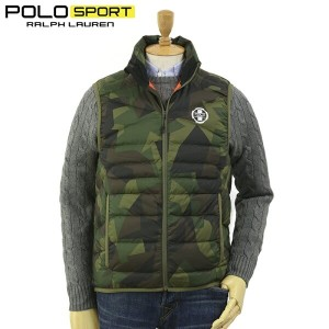 "POLO by Ralph Lauren Men's ""POLO SPORT"" Camouflage Down Vest USポロ ラルフローレン ポロスポーツ 迷彩 ダウンベスト"