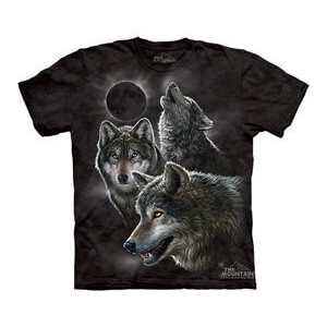 The Mountain Tシャツ Eclipse Wolves (オオカミ キッズ 子供用)【輸入品】半袖
