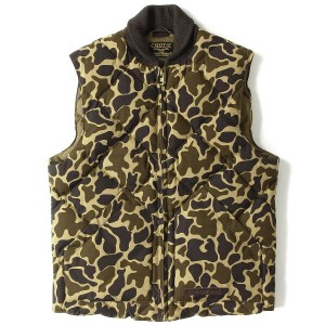 COOTIE (クーティー) 13A/W ダックハンターカモダウンベスト(Deerstalker Down Vest) 美品 ダックカモ M 【K1408】【中古】
