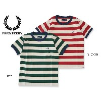 FRED PERRY kids Striped Ringer T-Shirt■SY1534【キッズ&ベビー トップス 半袖 子供 子ども Tシャツ フレッドペリー 】■4016295...