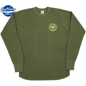 "BUZZ RICKSON'S/バズリクソンズ L/S THERMAL T-SHIRT""U.S. ARMY AIR FORCES"" USアーミーエアフォース、プリント入り長袖サーマルTシャツ..."