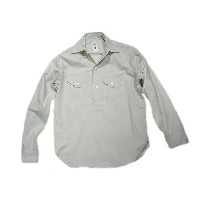 【期間限定30%OFF!!】POST OVERALLS(ポストオーバーオールズ)/#1298 TROPI-CRUZ LLC FEATHER POPLIN SHIRTS/stone