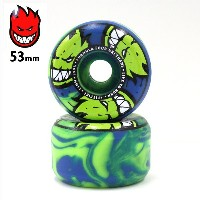 spitfire ウィール F4 99D AFTER BURNERS SWIRL CONICAL SHAPE GREEN/BLUE SFW-763 53mm スピットファイア フォーミュラー4...