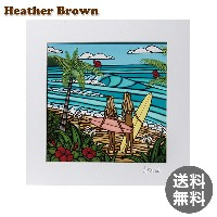 Heather Brown ヘザーブラウン Open Edition Matted Art Prints アートプリント Surf Sisters サーフシスターズ HB9310P ハワイ 絵画 イン
