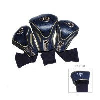 NFL St. Louis Rams 3 パック Contour フィット Headcover (海外取寄せ品)