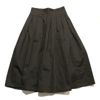 GRANDMA MAMA DAUGHTER(グランマ ママ ドーター)CHINO PLEATED LONG SKIRT GK001 NAVY ネイビー スカート