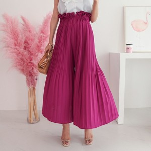 送料 0円★PPGIRL_9893 Pleats wide pants / skirt-pants / slacks / long skirt / waist band / long pants