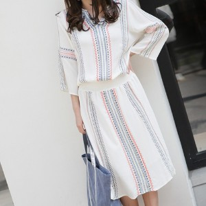 [zoozoom] Ethnic embroidery cotton dress 2color / 26666