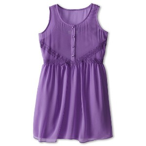 Us Angels Tank Dress Lace Trim Baby Doll (Big Kids)