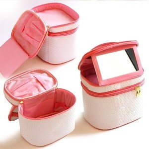 Korea Double-deck Zipper Makeup Bag Storage Bag