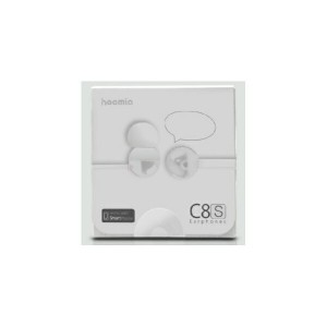 Hoomia C8S Color Lifestyle In-Ear Stereo Earphones-White(ホワイト) アクセサリー感覚で身に着けられるかわいいカナル型 イヤホン イヤフォン