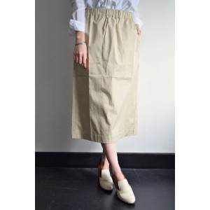STUDIO NICHOLSON(スタジオニコルソン)/PALMIRO A / LIGHTWEIGHT ITALIAN COTTON TWILL EASY SKIRT