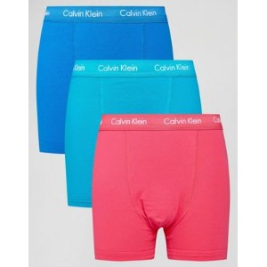 Calvin Klein Trunks 3 Pack Cotton Stretch