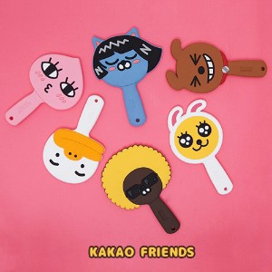 【Kakao friends】カカオフレンズゴムハンドル手鏡/Kakao friends rubber handle hand mirror/6種・韓国KAKAO FRIENDS正品