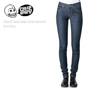 Cheap Monday(チープマンデー)TIGHT MID RISE SLIM Real Blue スキニー/デニム