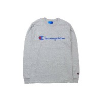 CHAMPION LIFE COTTON PATRIOTIC LOGO L/S T-SHIRTS (OXFORD GREY)チャンピオン/ロングTシャツ/グレー