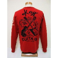 Groovers[グルーヴァーズ] ロンT KAY ELECTRIC GUITARS (RED)