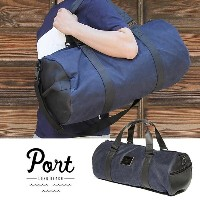 [40%OFF] PORT LBC ポート WAXED DUFFLE LEATHER(NAVY) 鞄 ダッフルバック ロングビーチ/サーフィン/スケートボード/アート/ミュージック バック バッグ...