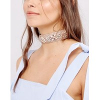 New Look Pastel Beaded Choker Necklace