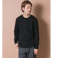 UR Goodwear×UR CREWNECK POCKET LONG-SLEEVE T-SHIRTS【アーバンリサーチ/URBAN RESEARCH メンズ Tシャツ・カットソー BLACK...