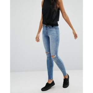 ドクターデニム レディース デニムパンツ ボトムス Dr Denim Lexy Mid Rise Second Skin Super Skinny Ripped Knee Jeans Light...
