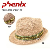 PHENIX フェニックス 帽子 TRICOLORED STRAW HAT PH318HW23 BE/RD【帽子】