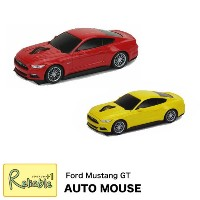 AUTO MOUSE【オートマウス フォードマスタングGT RED/YELLOW】Ford Mustang GT2.4GHz 無線電池式 車型マウス 無線マウス カーマウス プレゼント 父の日...