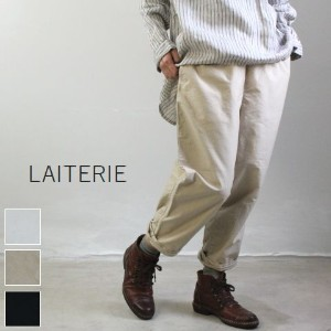 LAITERIE(レイトリー)ミクロモールスキンテーパード パンツ 3colormade in Japanlb16408-f