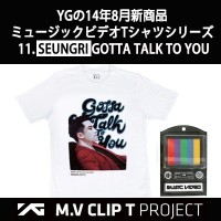 YG Entertainment 公式 M.V CLIP T seungri gottatalktou Short Sleeve Illustration Project T-shirt /...