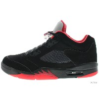 AIR JORDAN 5 RETRO LOW 819171-001 black/gym red-black-mtlc hmtt エア ジョーダン 5 未使用品【中古】