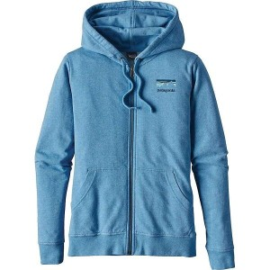 パタゴニア レディース トップス パーカー【Patagonia Shop Sticker Lightweight Full-Zip Hoody】Radar Blue