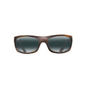 マウイジム メンズ アクセサリー メガネ・サングラス【Maui Jim Surf Rider Polarized Sunglasses】Grey Black Stripe / Neutral Grey