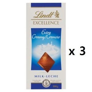 リンツ(Lindt) Chocolate Block Excellence Milk 100g 3EA [海外直送] [並行輸入品]