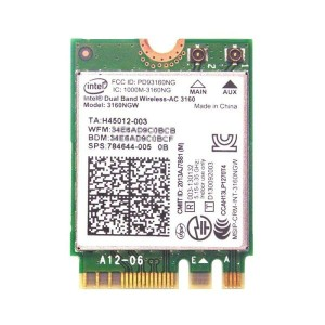 HP純正 784644-001/005 Intel Dual Band Wireless-AC 3160 433Mbps 802.11ac + Bluetooth 4.0 M.2 無線LANカード...
