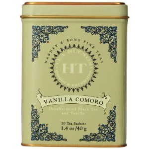 Harney and Sons Vanilla Comoro, Decaf Flavored Black 20 Sachets per Tin by Harney and Sons [Foods]...