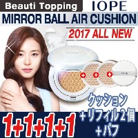 ★1+1+1+1★IOPE★2017NEW??エアクッション/本品1個+リフィル2個+パフ1個/Air Cushion/Natural / Cover /Intense Cover/ Matt