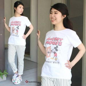 TRUE VINTAGE JAPAN SPECIAL/ジャンクフード『ミッキーマウス』Tシャツ W1119-12500:WHITE ◇