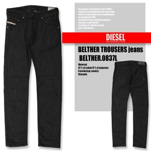 DIESEL BELTHER TROUSERS jeans BELTHER.0837L ディーゼル ジーンズ デニム ストレッチ スリムテーパード
