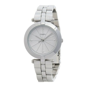 タイメックス Timex レディース アクセサリー 腕時計【Greenwich Silver-Tone Watch - Stainless Steel Bracelet 】White...