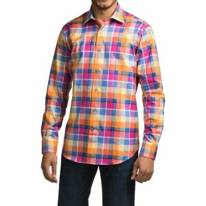 ロバート タルボット Robert Talbott メンズ トップス 長袖シャツ【Crespi IV Trim Fit Plaid Sport Shirt - Long Sleeve 】Sunset