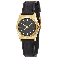 [ニクソン]NIXON SMALL TIME TELLER LEATHER: BLACK/GOLD NA509010-00 レディース 【正規輸入品】