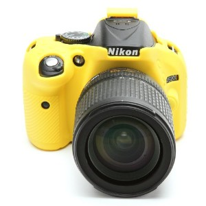 DISCOVERED イージーカバー Nikon D5200 用 液晶保護フィルム付 イエロー D5200-YE